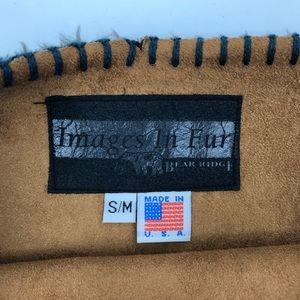 Bear Ridge Sweaters - Bear Ridge Images in Fur Poncho Moose Forest Brown